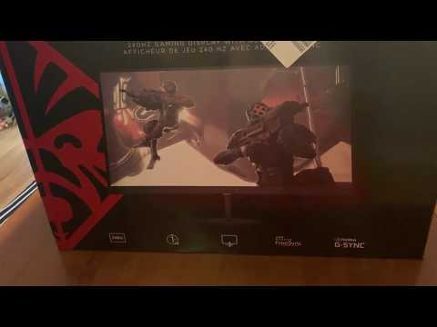 Unboxing review of the HP Omen 25f 240Hz gaming display monitor