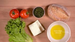 Bulgarian feta cheese sandwitch