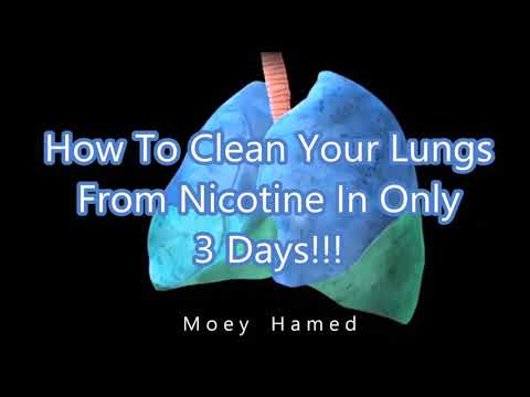 How To Clean Your Lungs From Nicotine In Only 3 Days !!!