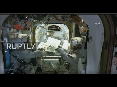 LIVE: NASA astronauts Whitson and Fischer conduct ISS spacewalk