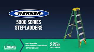 Werner Ladder - 5900 Series Fiberglass Step Ladders
