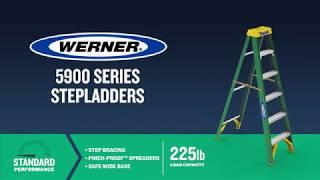 Werner Ladder - 5900 Series Fiberglass Step Ladders