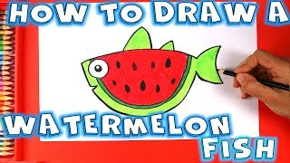 How to Draw a Watermelon Fish