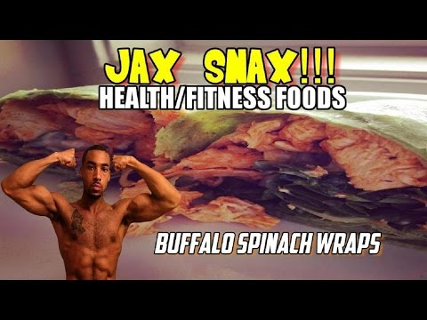 JAX SNAX: Health/Fitness Foods, How to Make Protein Spinach Wraps