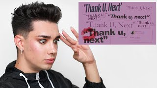 James Charles reacting to Ariana Grande - Thank u, next Video