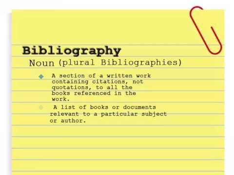 make a bibliography