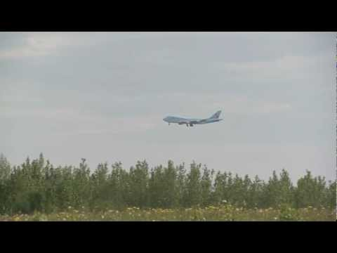 Korean Airlines Cargo landing at ANC, Anchorage Ted Stevens International Airport