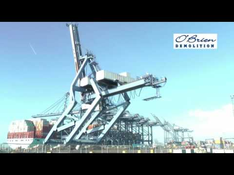 Ship-to-Shore Crane Demolition - O'Brien Demolition
