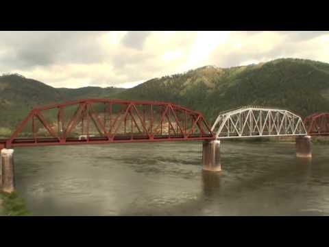 Прибытие в Улан-Удэ вид из окна поезда