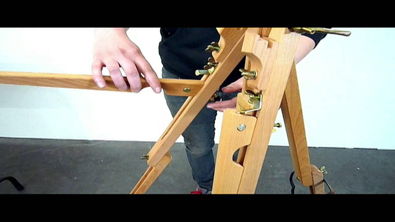 tripod mini field easel assembly youtube