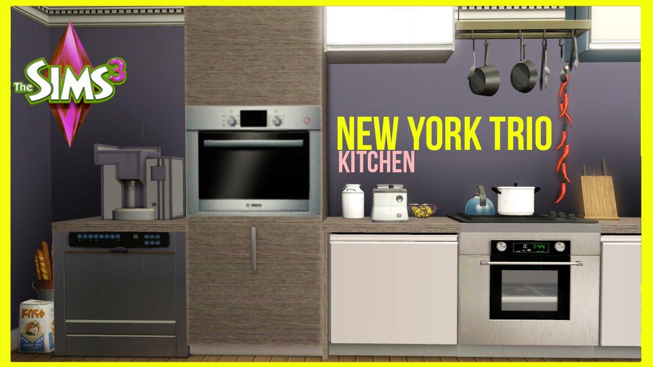 Sims 3 Kitchen The Sims 3 New York Trio Kitchen Part 14 Youtube