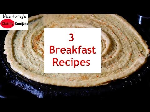 3 High Protein Instant Breakfast Recipes - No Rice-No Fermentation - Millet Recipes | Skinny Recipes
