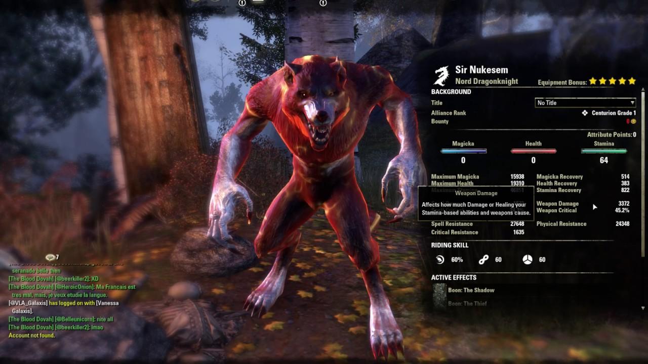 Elder Scrolls Online - Werewolf Build