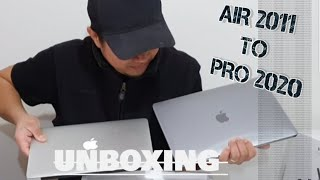 "#unboxing #MacBook Upgrading from MacBook Air 2011 to McBook pro 13"" 2020"