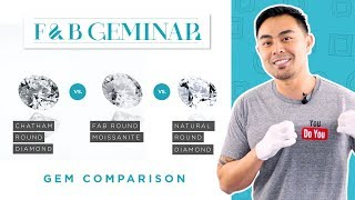 Chatham Diamond vs. FAB Moissanite vs. Natural Diamond : Round Brilliant Cut