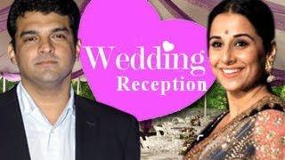 Vidya balan & siddharth roy kapoor's wedding reception in chennai