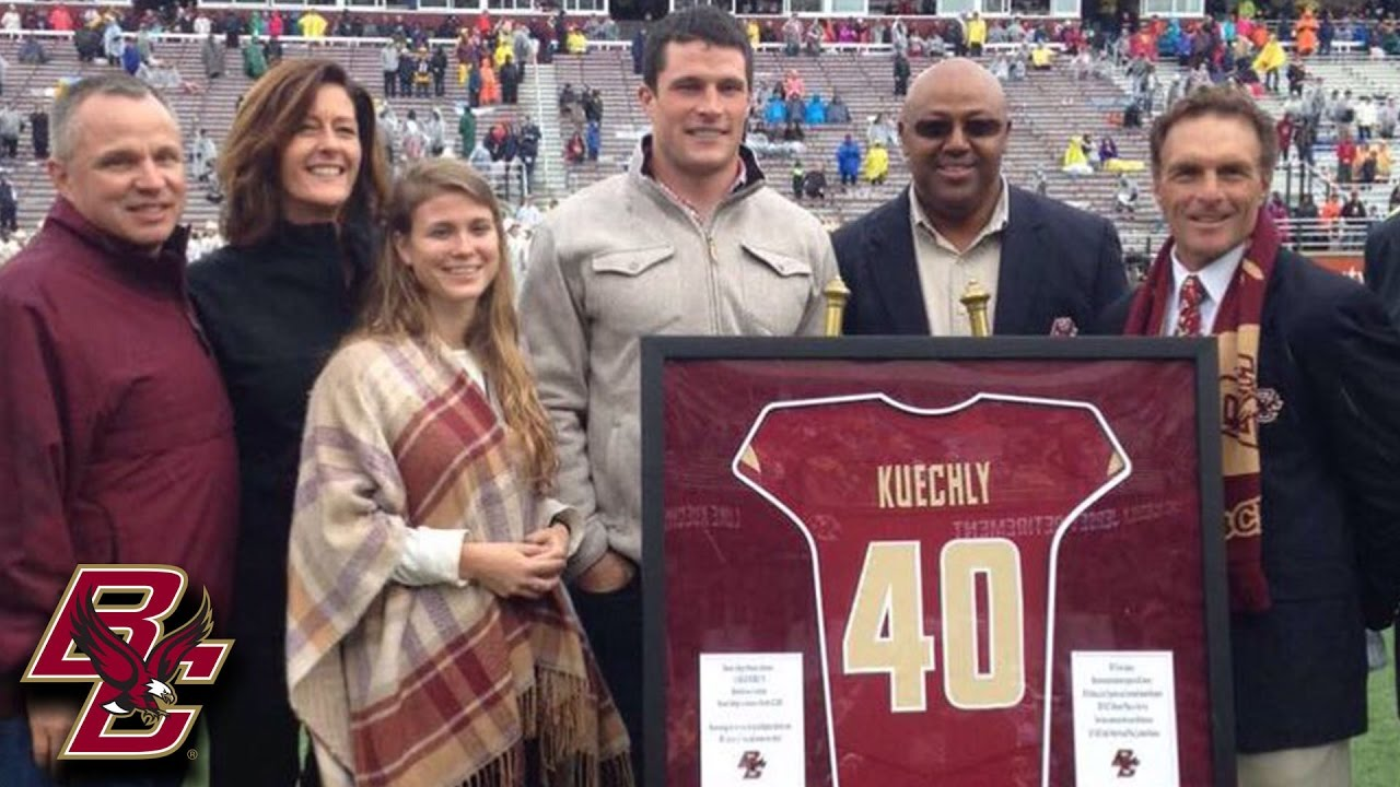 size 40 aa129 7af24 Luke Kuechly Jersey Retired By Boston College At Halftime Of Syracuse Game