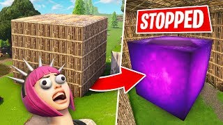 We Tried To STOP THE CUBE FROM MOVING - Fortnite Battle Royale