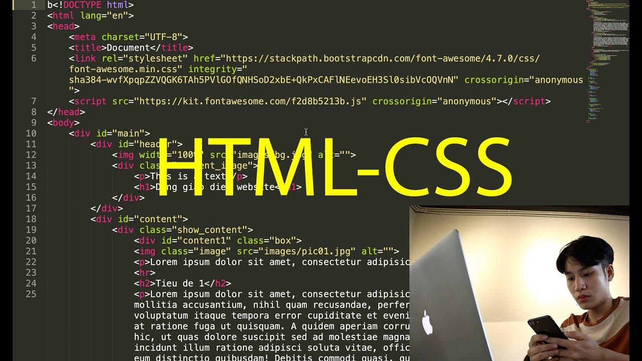 XÂY DỰNG GIAO DIỆN WEBSITE ĐƠN GIẢN SỬ DỤNG HTML – CSS | VuTuanTEM
