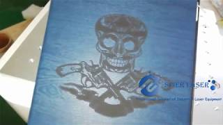 SPIER- Co2 laser engraving for iPAD cover | Resin laser engraving | Grabado laser co2