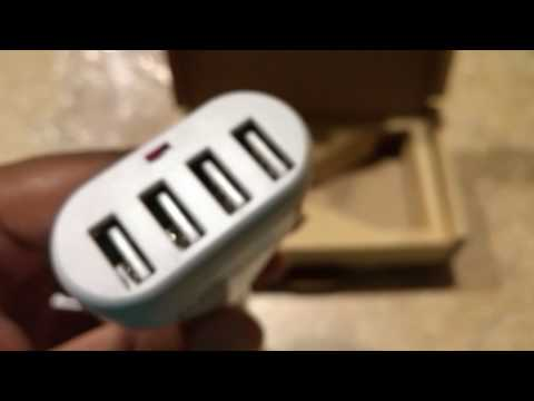 Lumsing 4 Port Car Charger