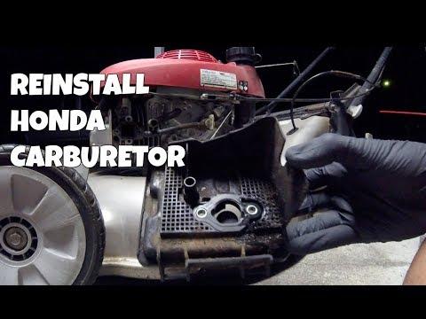 How to Reinstall Carburetor on a Honda Lawn Mower