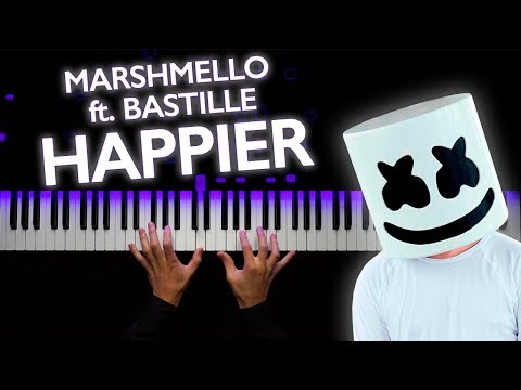 Marshmello ft. Bastille - Happier | Piano tutorial | Sheets