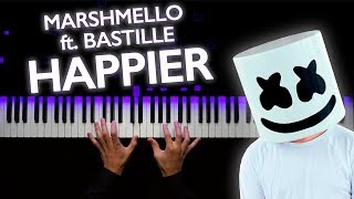 Marshmello Ft. Bastille Happier Piano tutorial Sheets.mp3