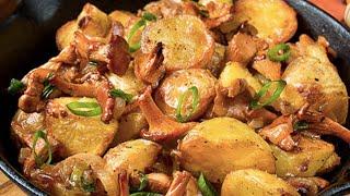 ЗА УШИ НЕ ОТТАЩИШЬ Жареная Картошка с Лисичками на Сковороде Пошаговый Рецепт