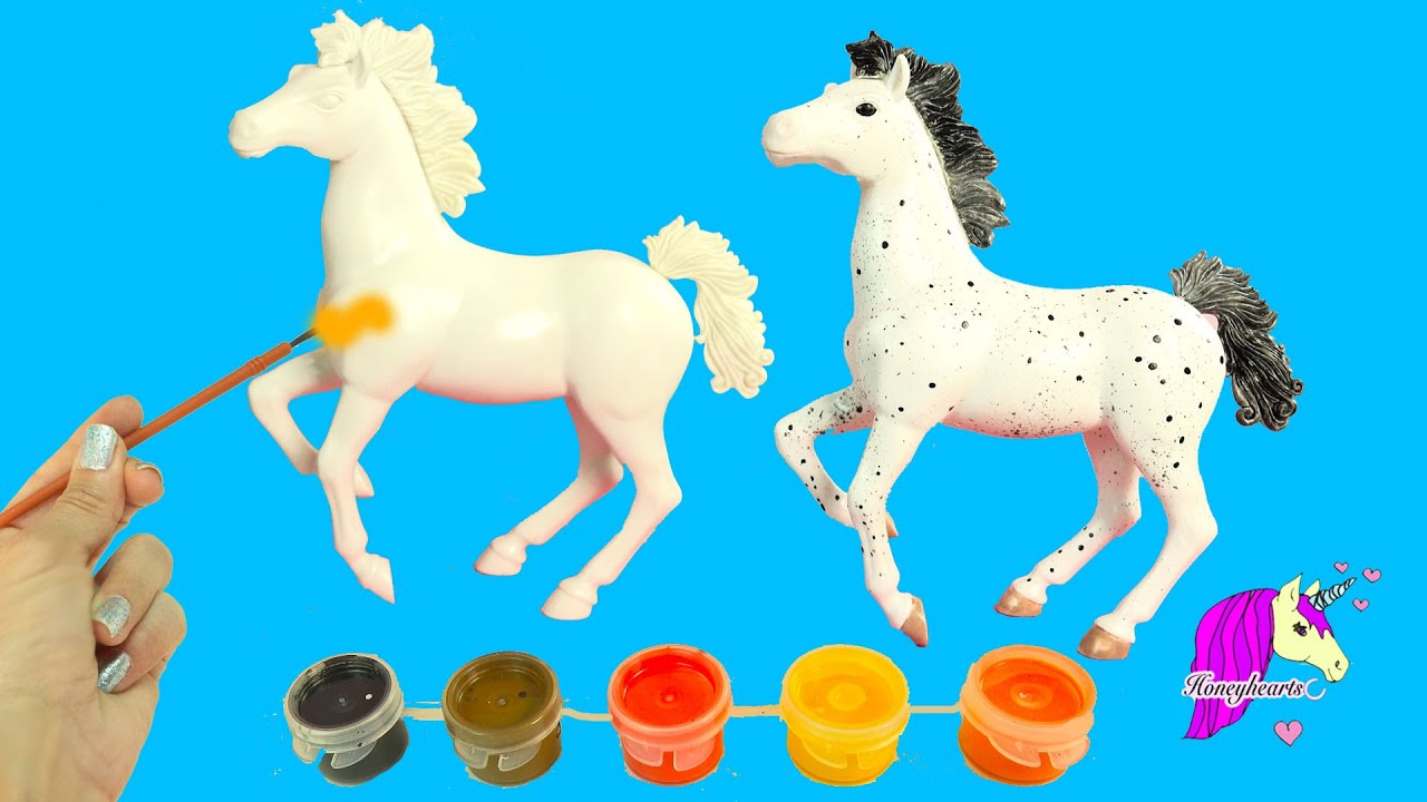 Do it yourself painting a blank model horse play acrylic paint kit do it yourself painting a blank model horse play acrylic paint kit fun craft video solutioingenieria Image collections