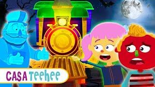 Trem Assombrado | NOVA CANÇÃO | Aventura com Len e Mini por Casa Teehee