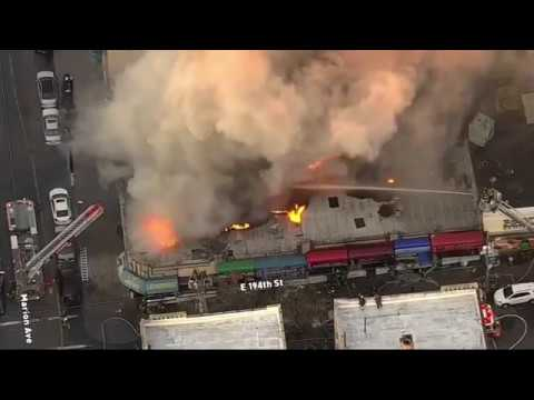 HUGE FIRE in New York City at a commercial building