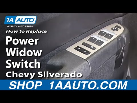 How To Replace Master Power Window Switch 07-13 Chevy Silverado