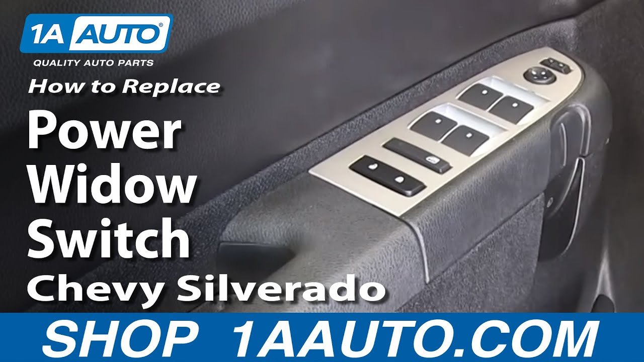 How To Install Replace Drivers Master Power Widow Switch 2007 13 Chevy Silverado Mirror Wiring Lt Gmc Sierra Sle