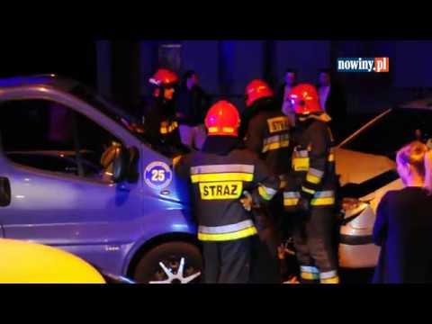 Wypadek na Plebiscytowej na Zamysłowie w Rybniku – 17 października 2017