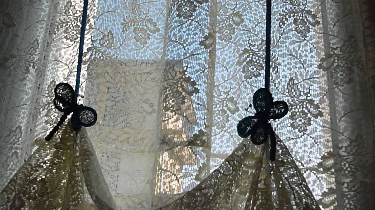 Recupero e cucito creativo le mie tende per il bagno very vintage youtube - Tende per finestra del bagno ...