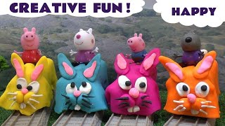 Thomas and Friends DC Super Friends Minis Toys Play Doh Surprise Eggs Justice League Spongebob TMNT