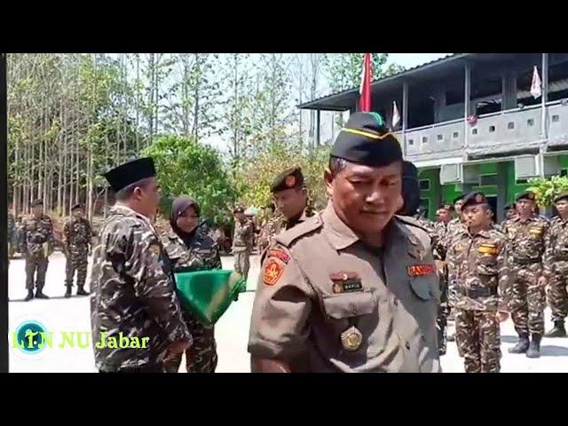 Sambutan Ketua Ansor Subang dan Penyematan Tanda Peserta SUSBALAN I