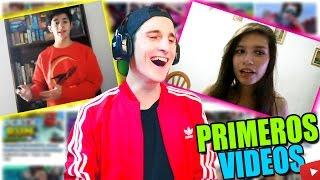 REACCIONANDO a los PRIMEROS VIDEOS de YOUTUBERS!