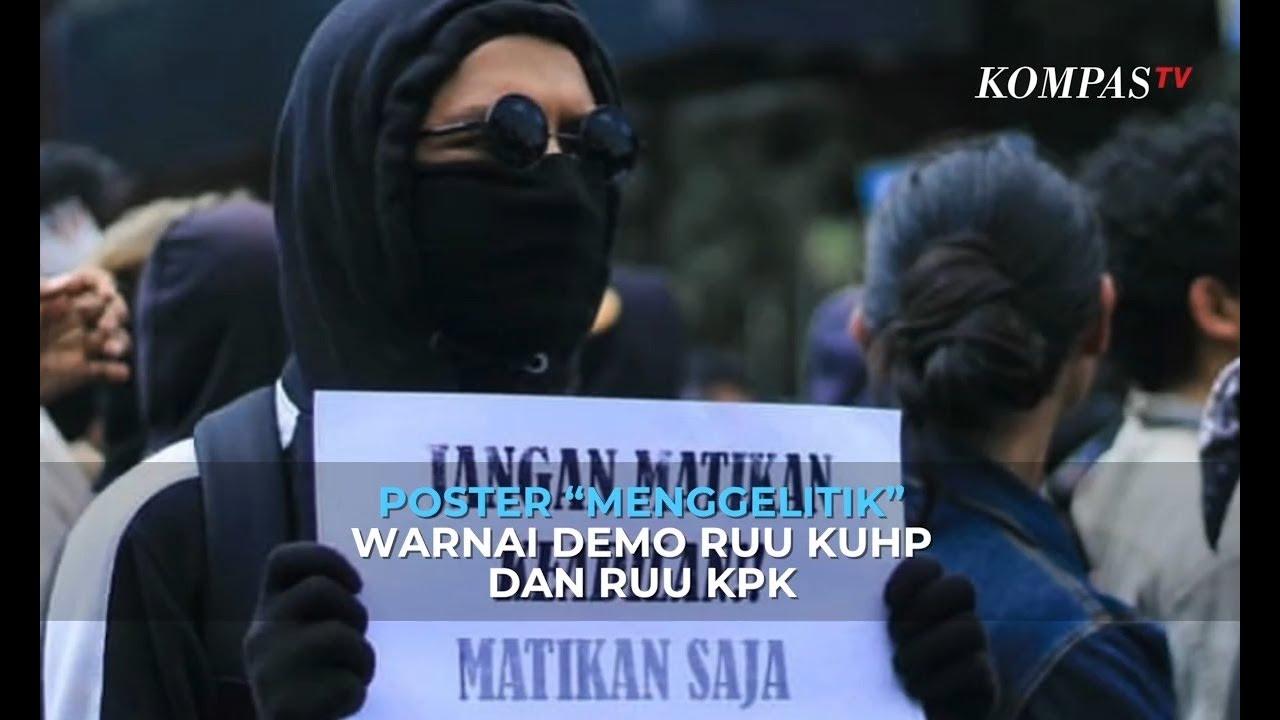 """Viral Poster """"Menggelitik"""" Warnai Demo RUU KUHP Dan RUU KPK"""