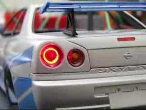 2 Fast 2 Furious 1/24 Skyline (making of)