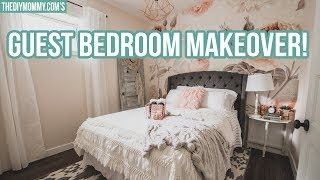 Romantic Modern Farmhouse Guest Bedroom Makeover