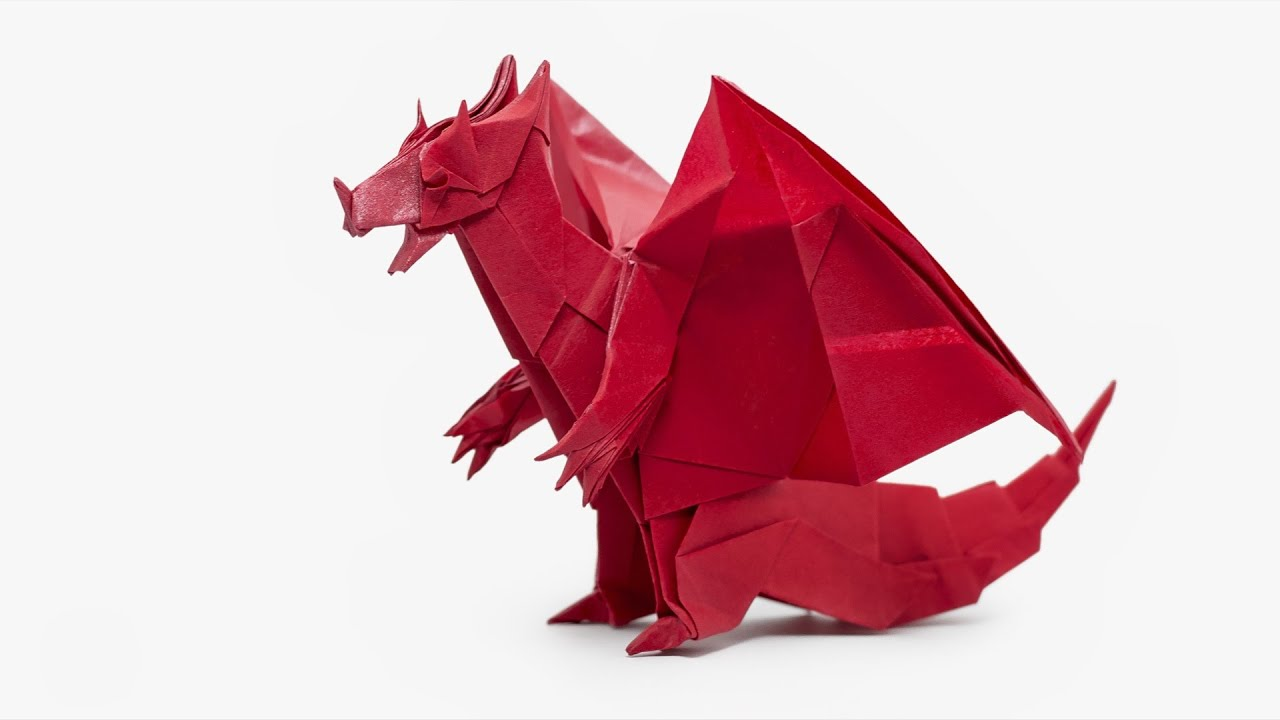 Origami Devil Dragon (Jo Nakashima) - YouTube - photo#7