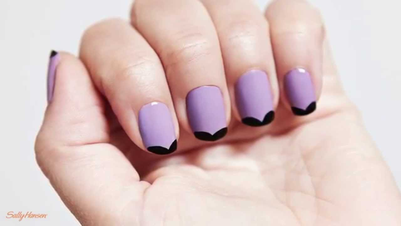 Nail Art Tutorial Modern French Manicure With Sally
