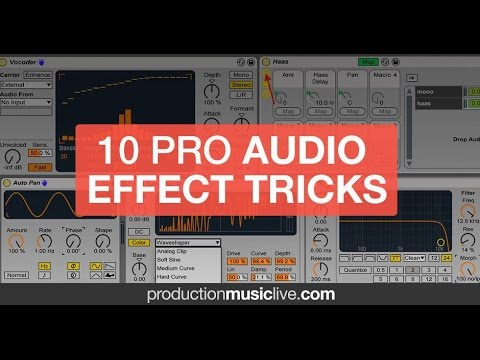 Top 10 Audio Effect Tricks with k-pizza | Ableton Live