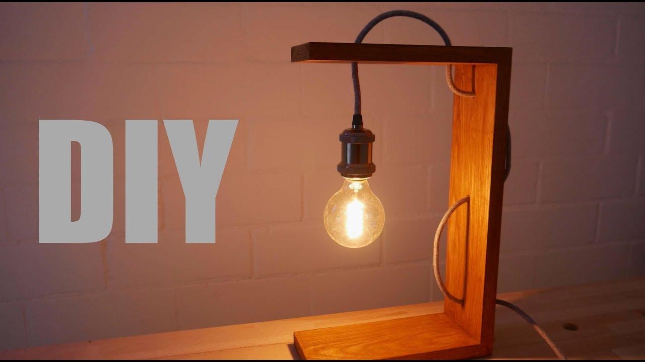 making a simple night lamp tolle nachttischlampe zum nachbauen youtube. Black Bedroom Furniture Sets. Home Design Ideas