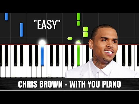 Chris Brown - With You Piano Tutorial with Lyrics | Synthesia Music Lesson