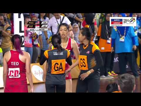 MAS 65-41 SGP | Bola Jaring | Final | KL 2017 | Astro Arena