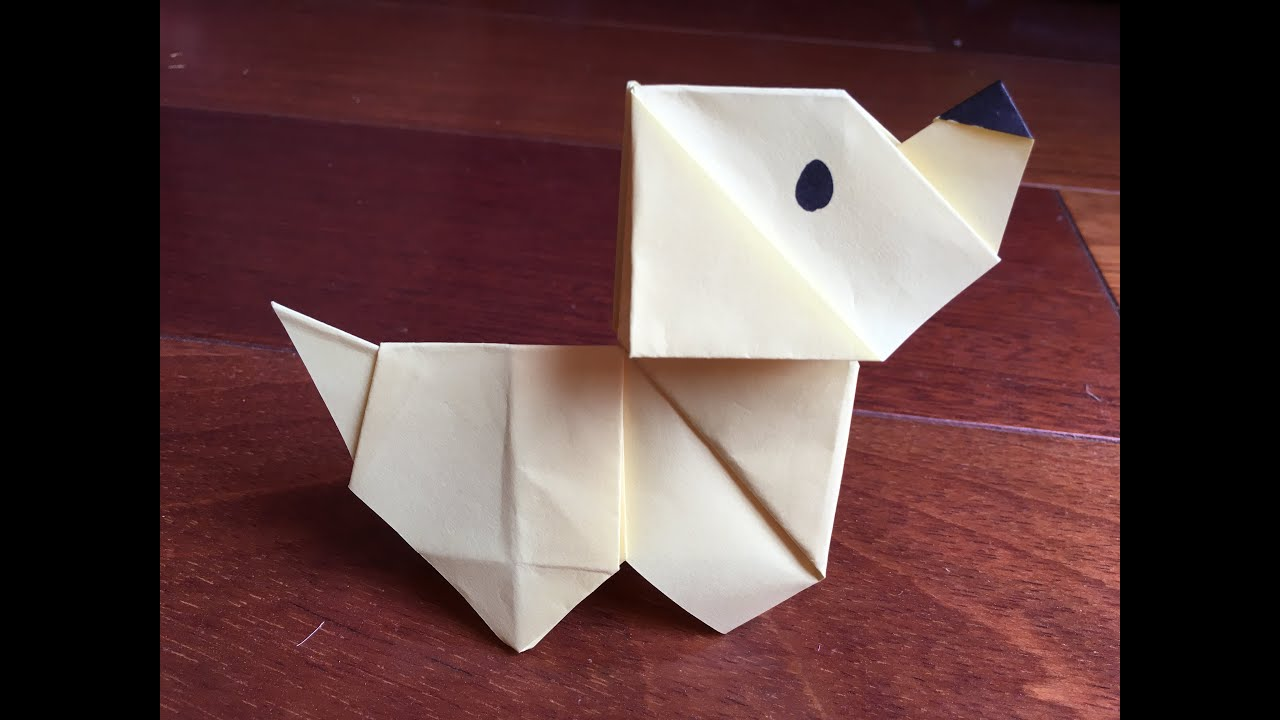 How to make an origami dog paper dog paper folding dog youtube how to make an origami dog paper dog paper folding dog jeuxipadfo Image collections