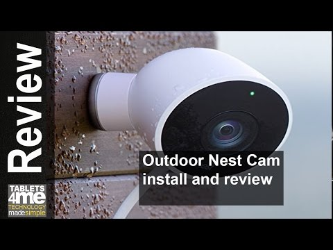 NEW 2016 OUTDOOR NEST CAM INSTALL AND SETUP